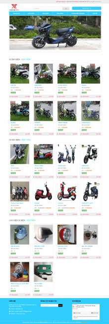 mẫu thiết kế website xe đạp