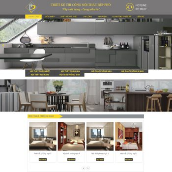 Thiết kế thi công nội thất Bếp Phố