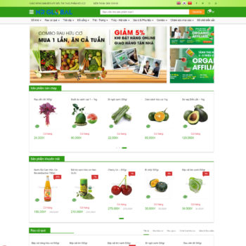 Mẫu Thực phẩm Organicfood
