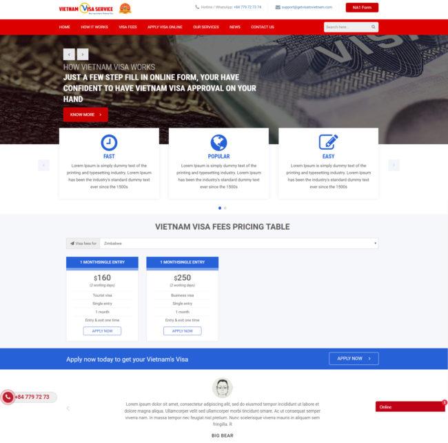 Dự Án Visaservice Việt Nam