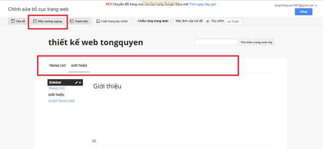 tạo website miễn phí với Google sites
