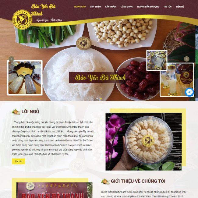 Website Yến Sào Đà Thành