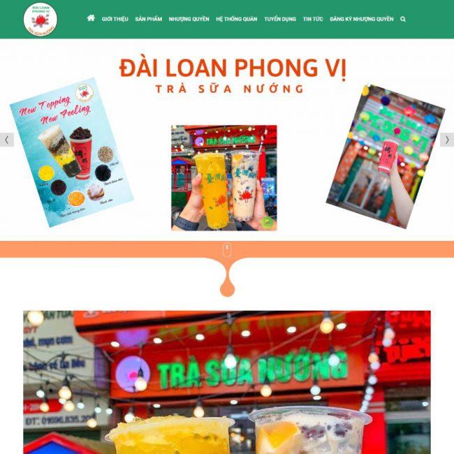 Web Trà sữa Đài Loan Phong Vị