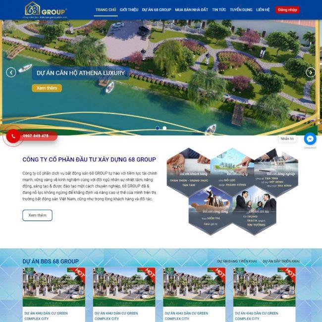 Website bất động sản 68 Group