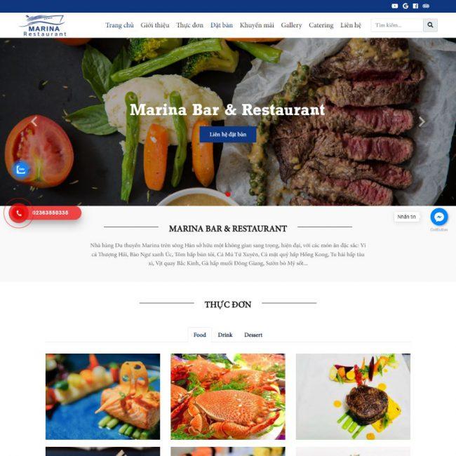 Website nhà hàng Marina