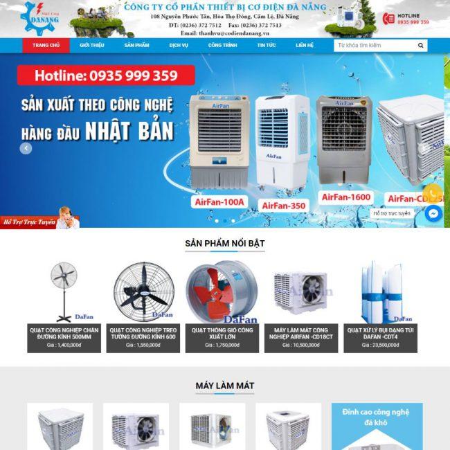 Website quạt điện Đà Nẵng