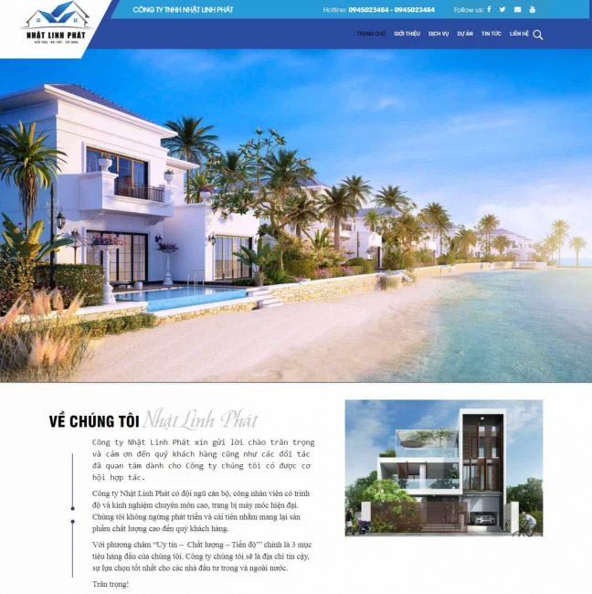 Website xây dựng Nhật Linh Phát