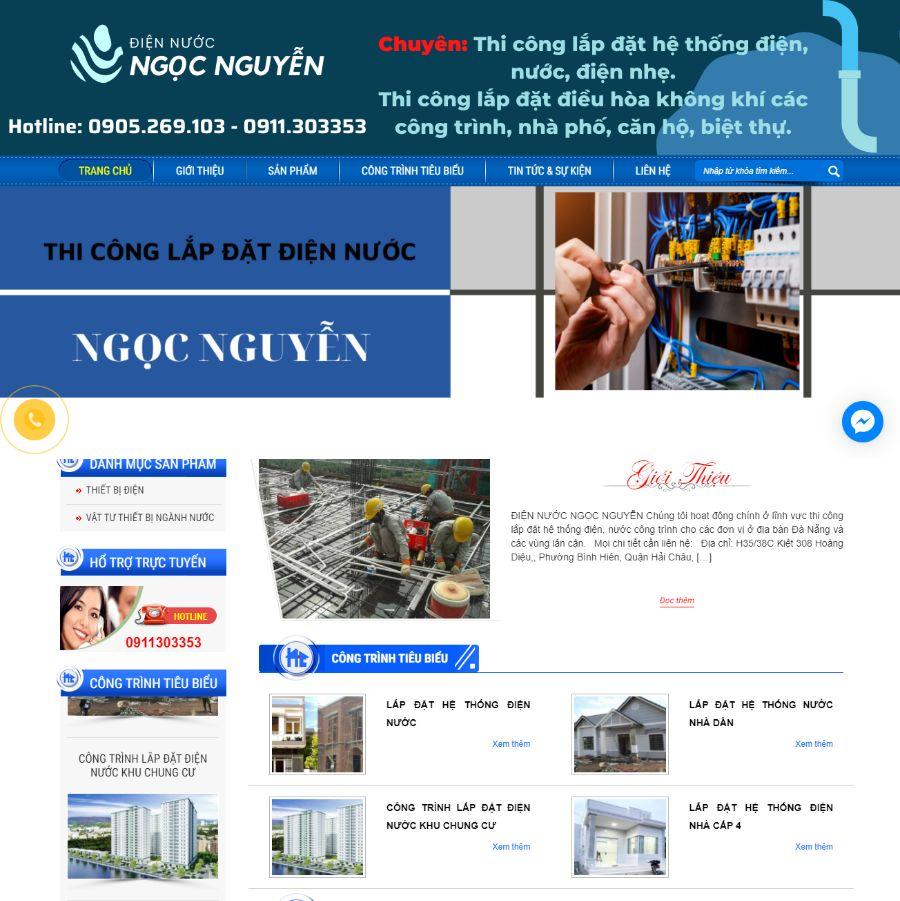 Website điện nước Ngọc Nguyễn