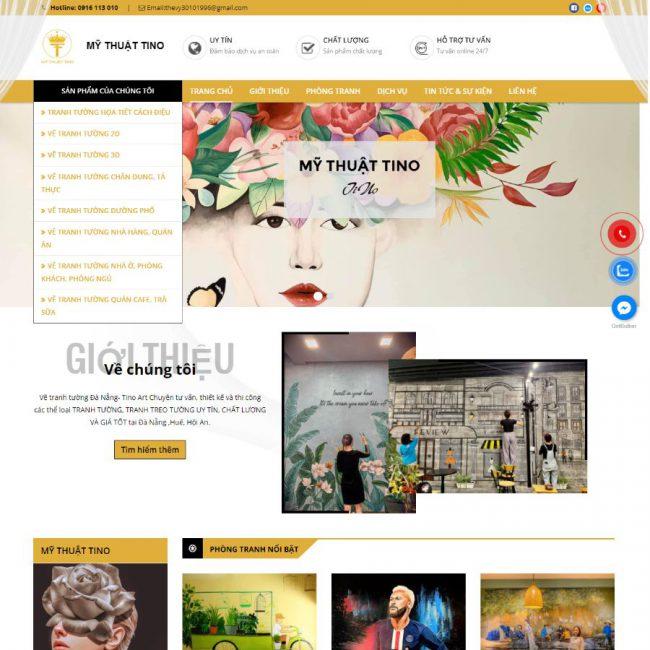 Website mỹ thuật Tino