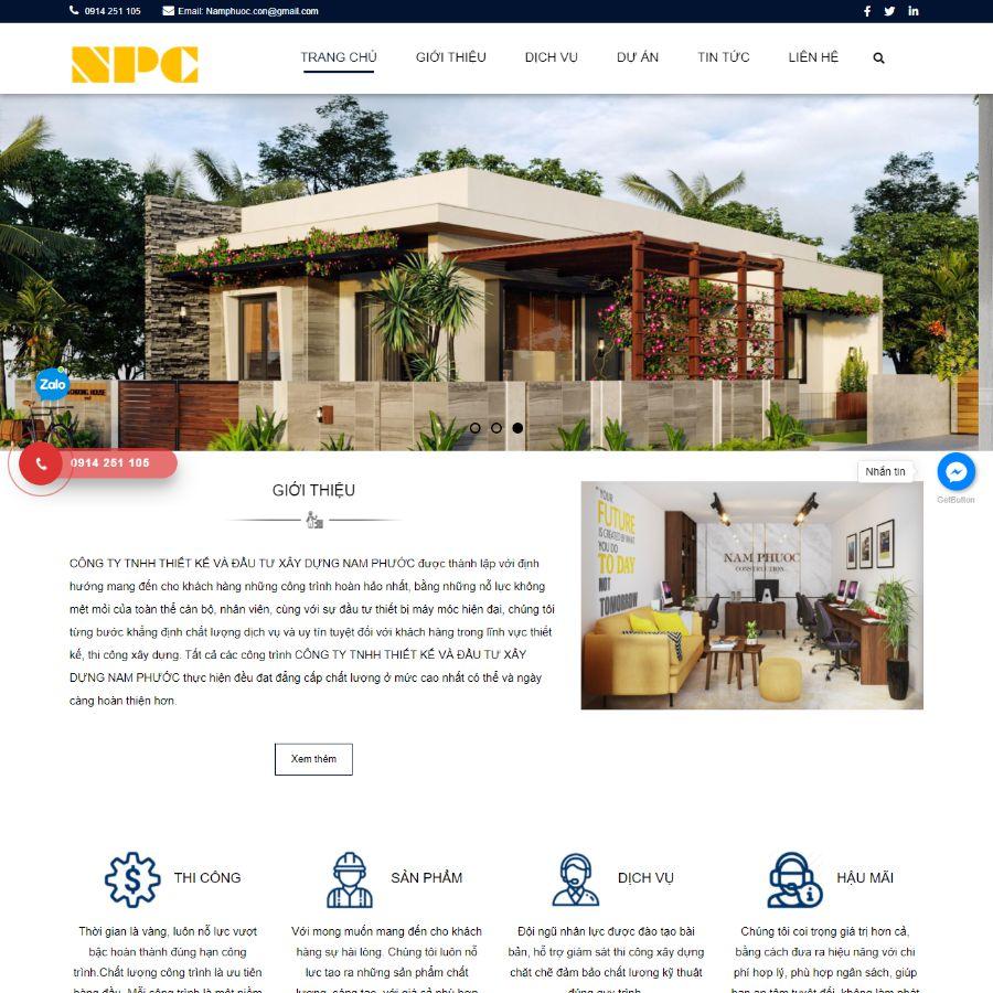 Website xây dựng Nam Phước