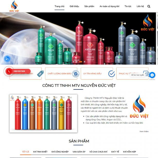 Website khí công nghiệp Đức Việt