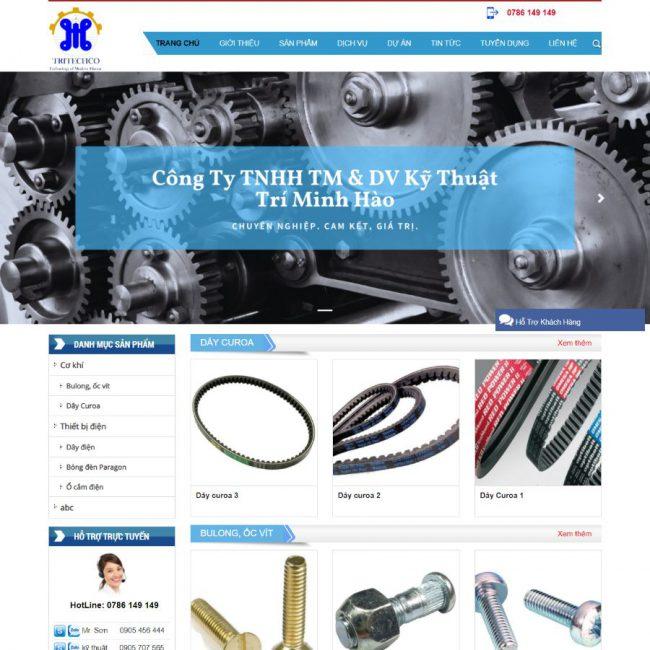 Website kỹ thuật Trí Minh Hào