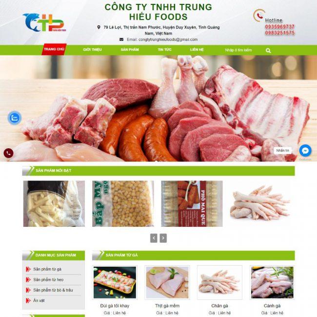 Website thực phẩm Trung Hiếu