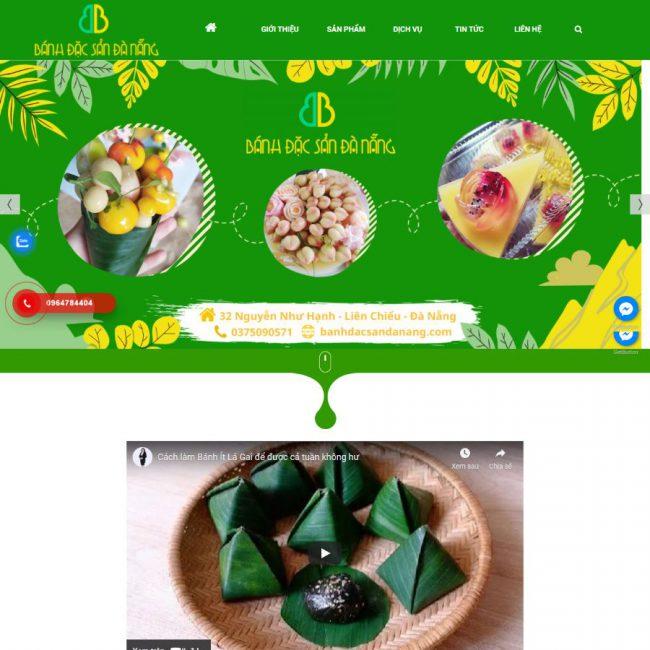 Website bánh đặc sản Đà Nẵng