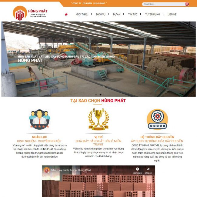 Website gạch Hùng Phát