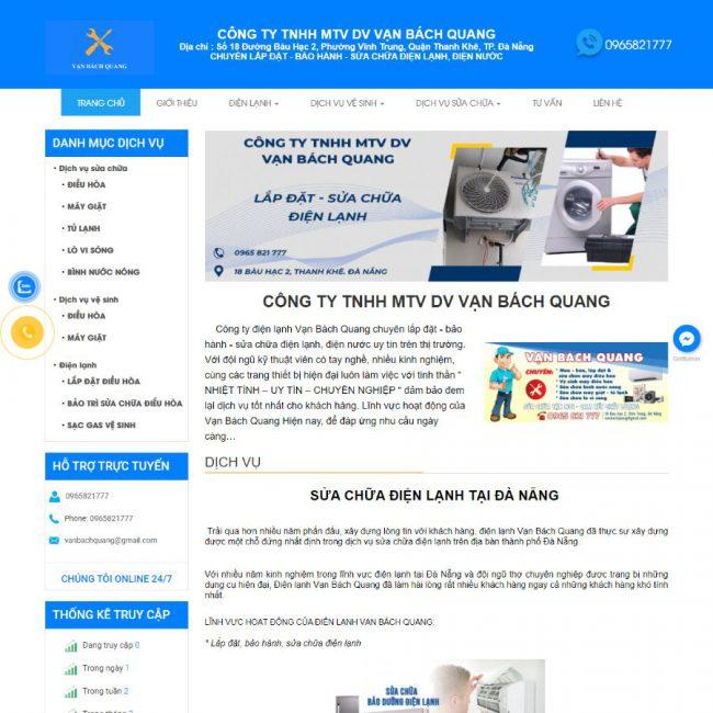 Website sửa chữa điện lạnh