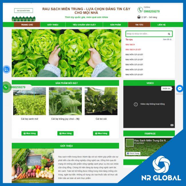 Website Rau sạch miền Trung