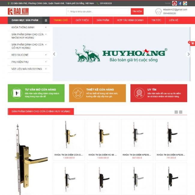 Website vật tư thiết bị Bảo Kim