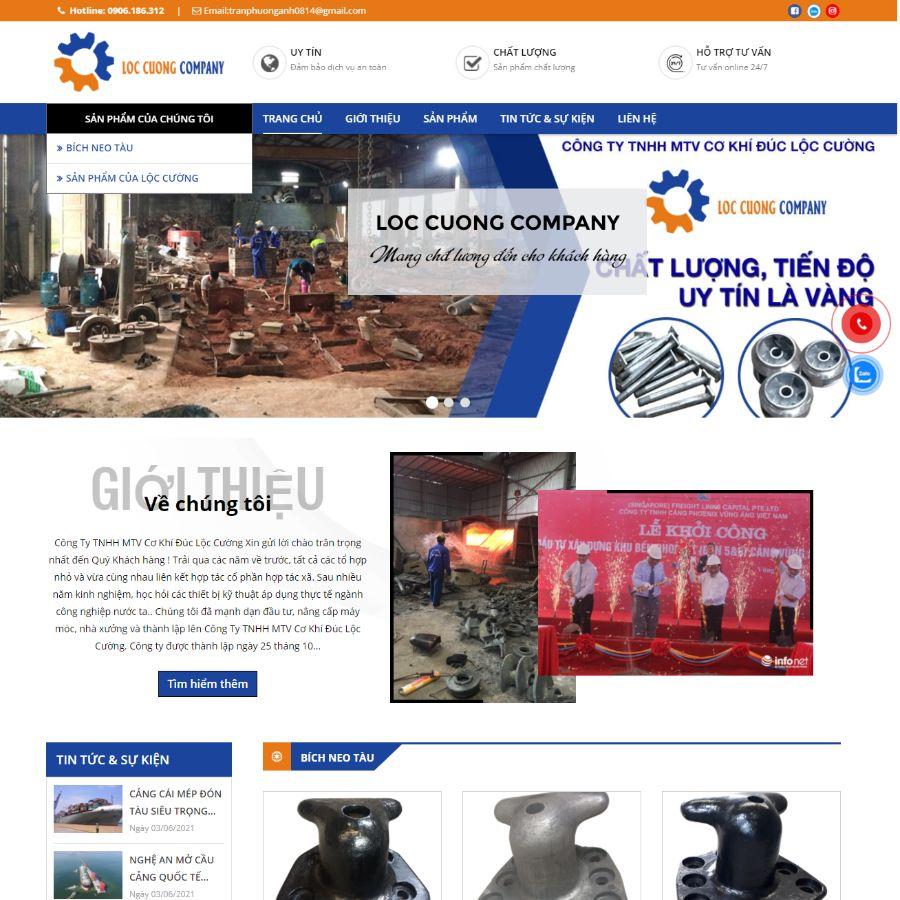 Website Cơ Khí Đúc Lộc Cường