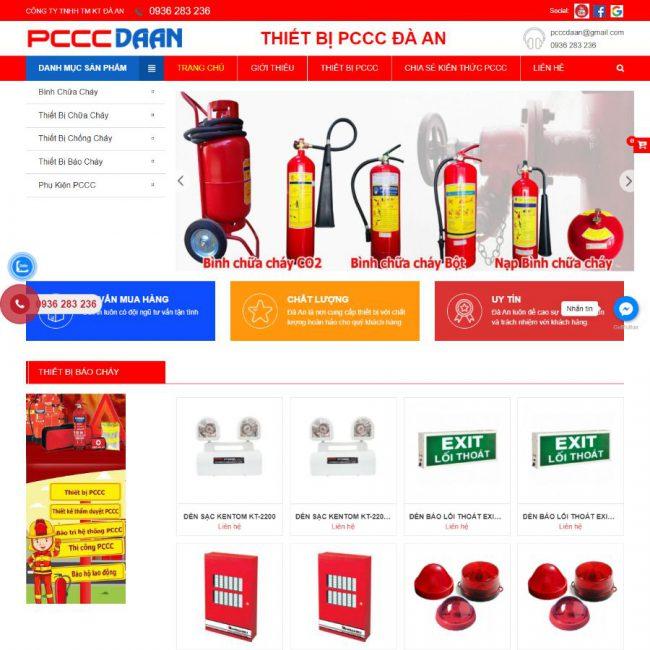 Website Thiết bị PCCC Đà An