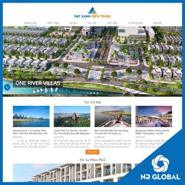 Website Bất động sản – Nhà đất: Đất xanh Nam Miền Trung