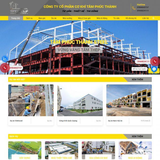 Website Cơ khí Tâm Phúc Thành