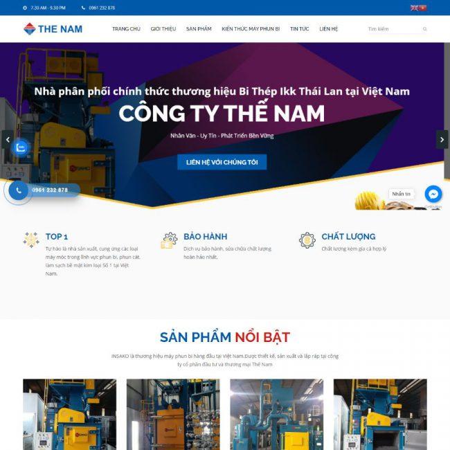 Website Máy phun Thế Nam