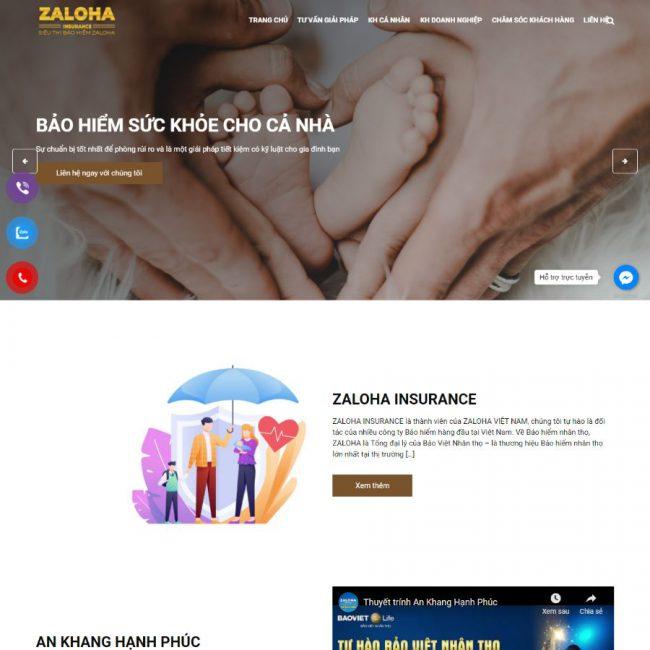 Website Bảo hiểm ZALOHA