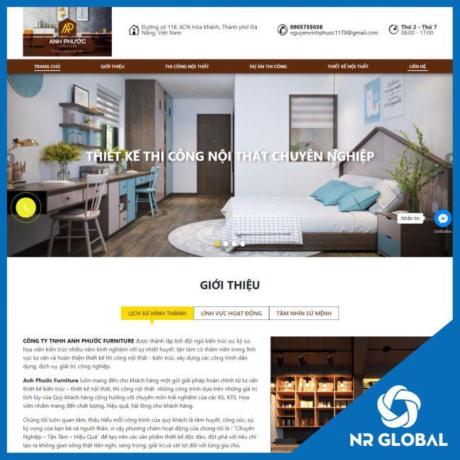 Dự án Website thiết kế kiến trúc: Anh Phước Furniture