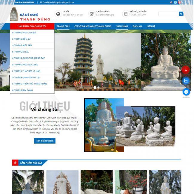 Website Đá mỹ nghệ Thanh Dũng