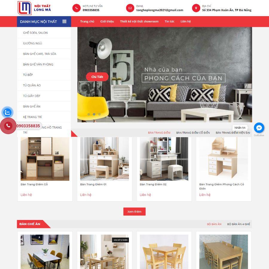 Website Nội thất Long Mã