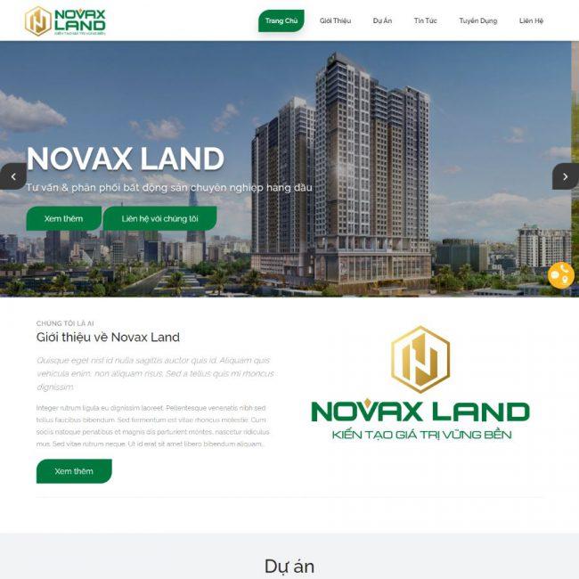 Website Bất động sản Novaxland